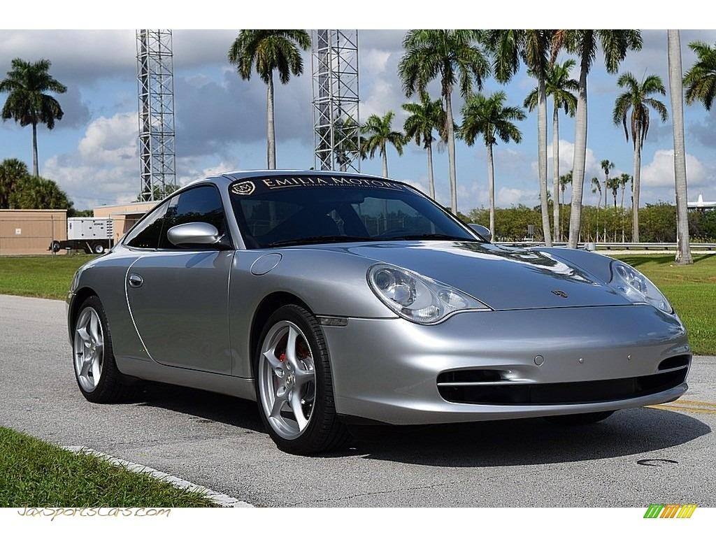 2002 911 Carrera Coupe - Arctic Silver Metallic / Black photo #1