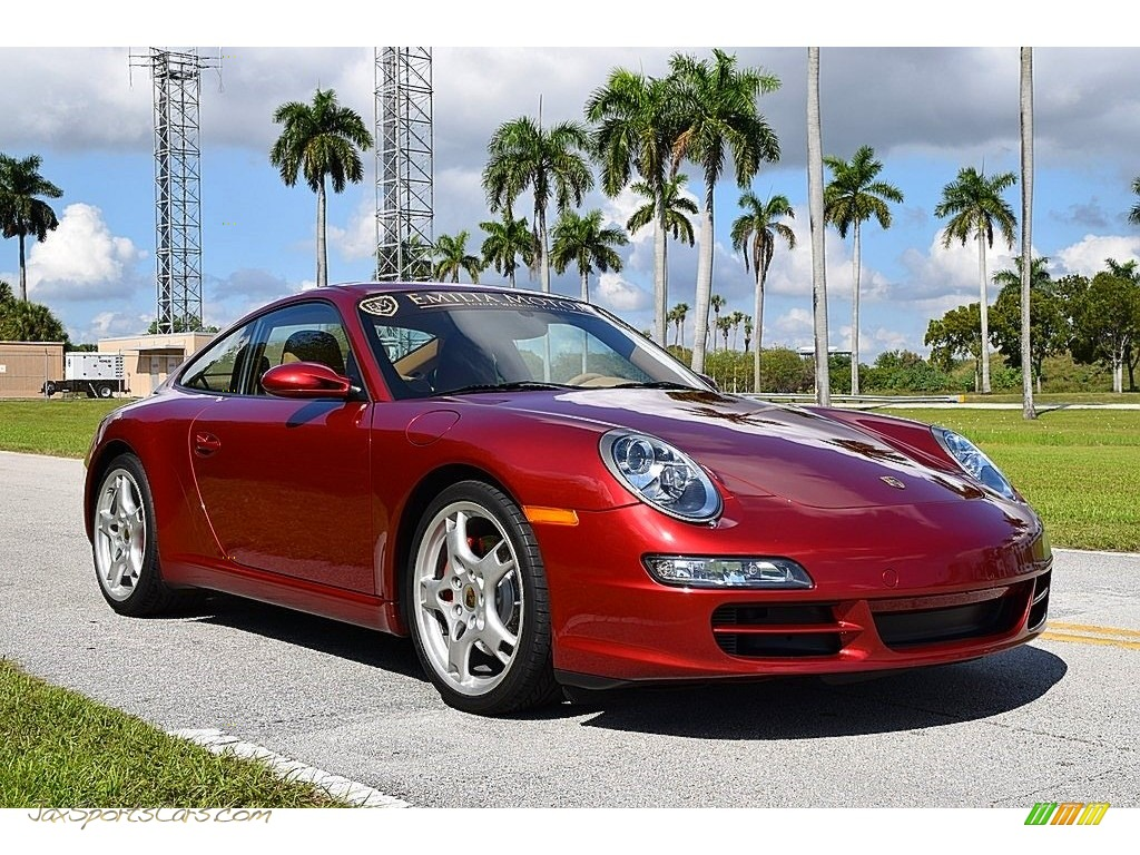 2008 911 Carrera S Coupe - Ruby Red Metallic / Sand Beige photo #1
