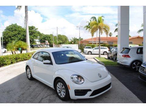 Pure White 2019 Volkswagen Beetle S