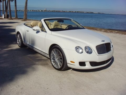 Glacier White 2010 Bentley Continental GTC Speed