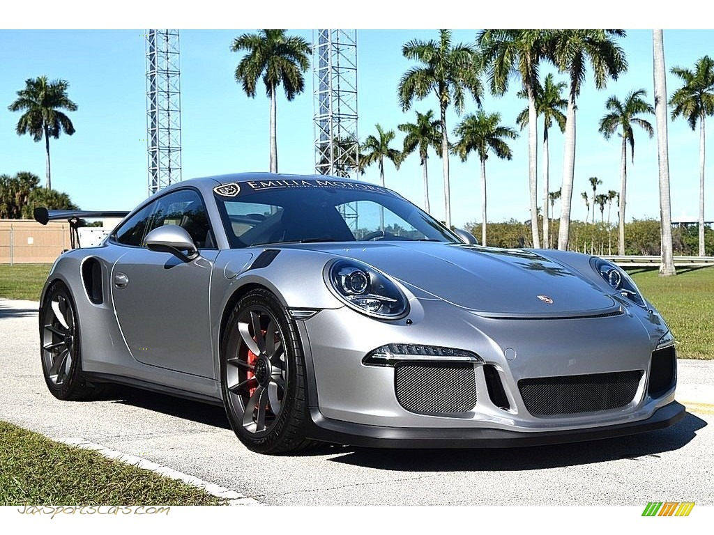 2016 911 GT3 RS - GT Silver Metallic / Black photo #1