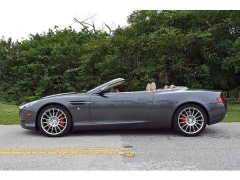 Tungsten Silver 2008 Aston Martin DB9 Volante