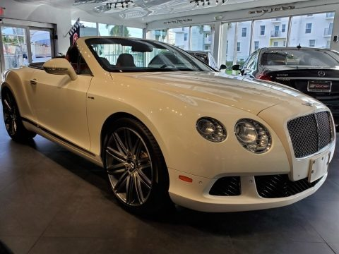 Arctica White 2014 Bentley Continental GTC Speed