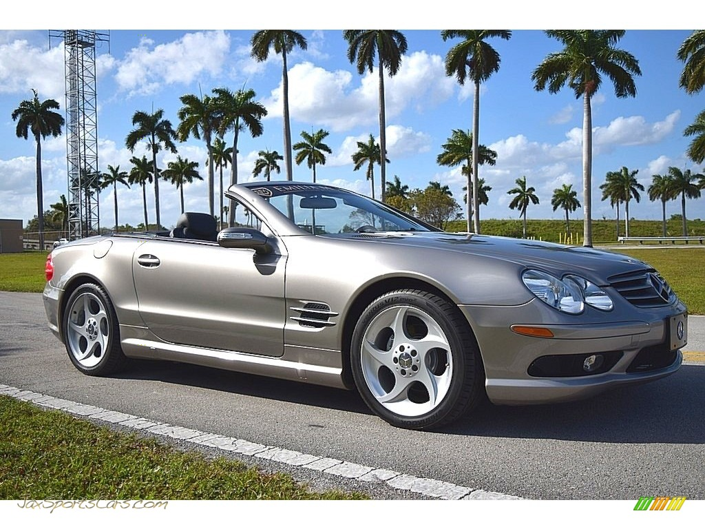 2004 SL 500 Roadster - Pewter Silver Metallic / Charcoal photo #1
