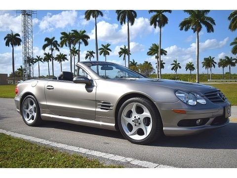 Pewter Silver Metallic 2004 Mercedes-Benz SL 500 Roadster