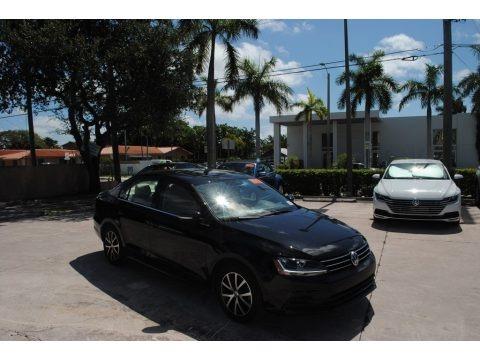 Black 2017 Volkswagen Jetta SE