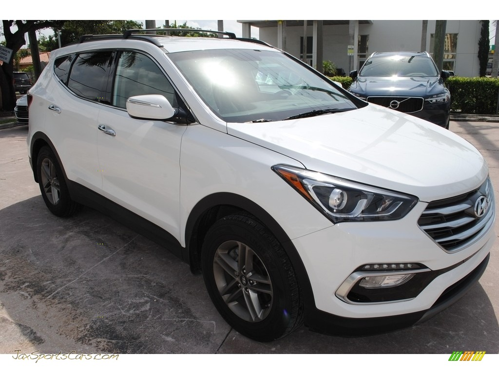 2018 Santa Fe Sport  - Pearl White / Gray photo #2
