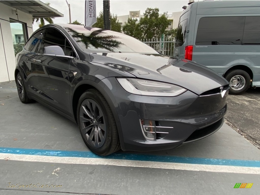 2018 Model X 100D - Midnight Silver Metallic / Black photo #1