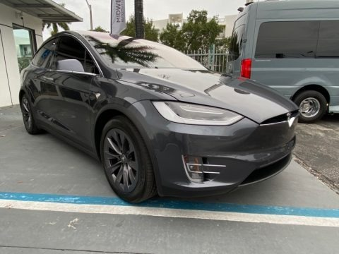 Midnight Silver Metallic 2018 Tesla Model X 100D