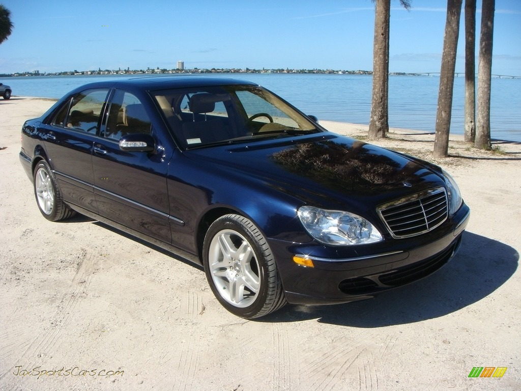 2003 S 430 Sedan - Capri Blue Metallic / Java photo #1