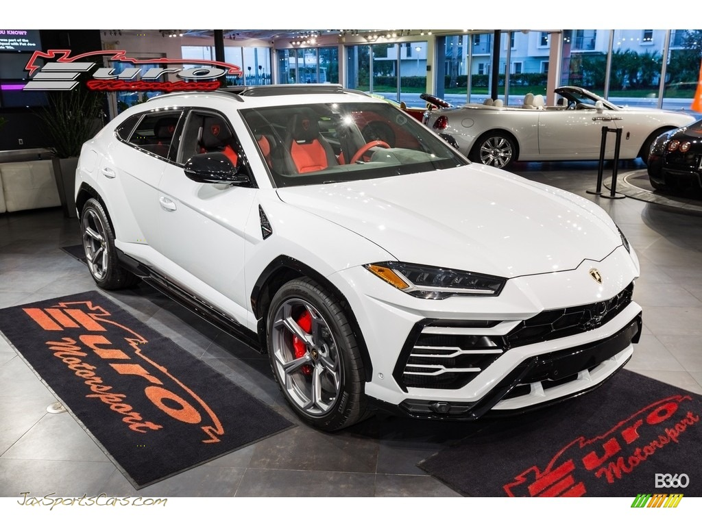 2019 Urus AWD - Bianco Icarus Metallic / Arancio Leonis/Nero Ade photo #1
