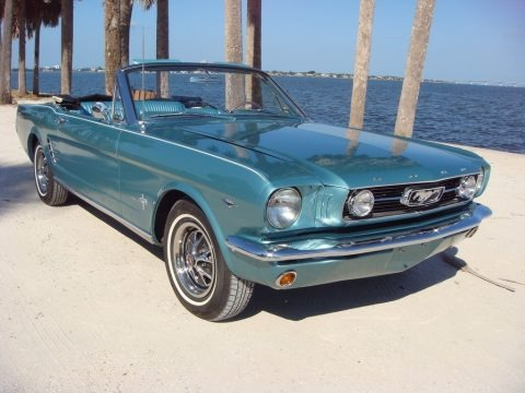Tahoe Turquoise 1966 Ford Mustang Convertible