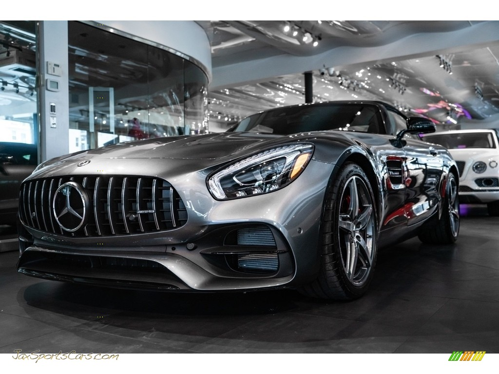 2019 AMG GT Roadster - Selenite Grey Metallic / Red Pepper/Black photo #1