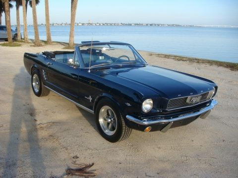 Nightmist Blue 1966 Ford Mustang Convertible