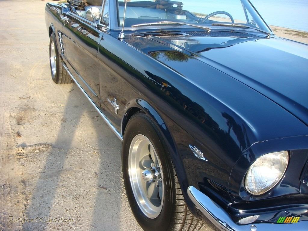 1966 Mustang Convertible - Nightmist Blue / Light Blue photo #9