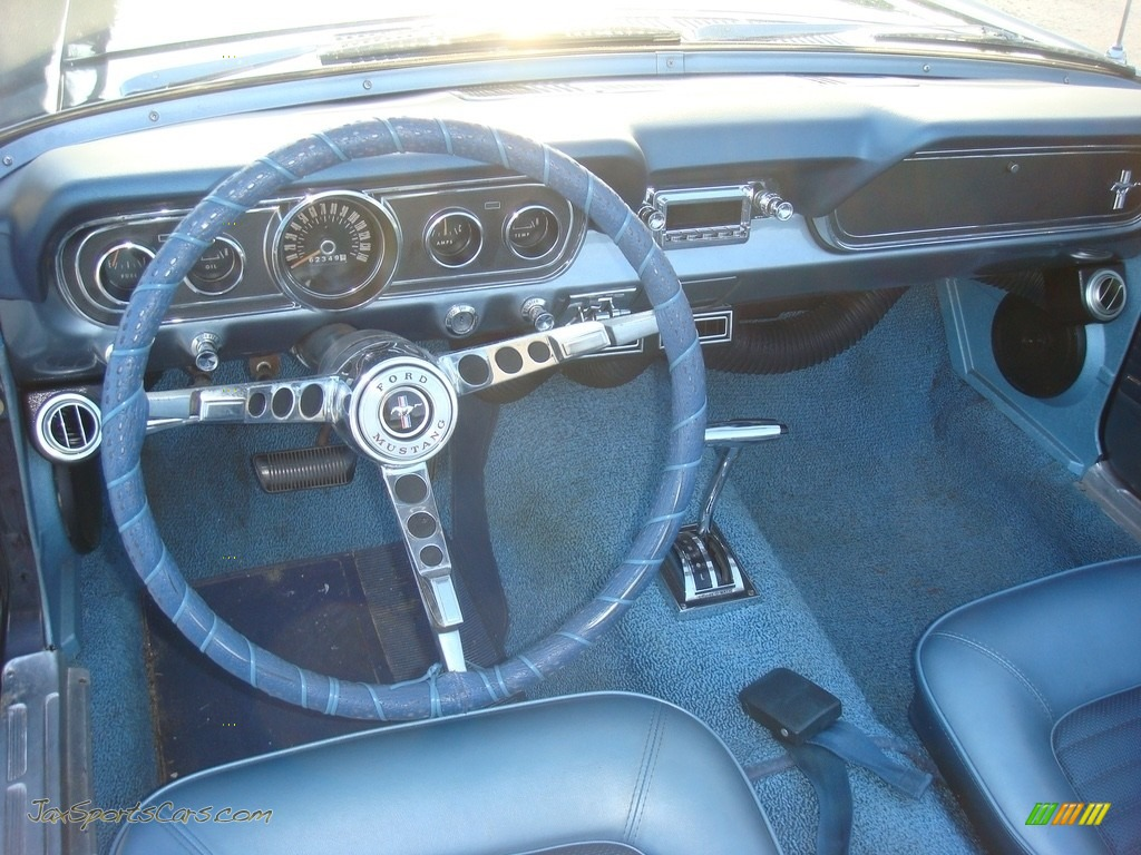 1966 Mustang Convertible - Nightmist Blue / Light Blue photo #16