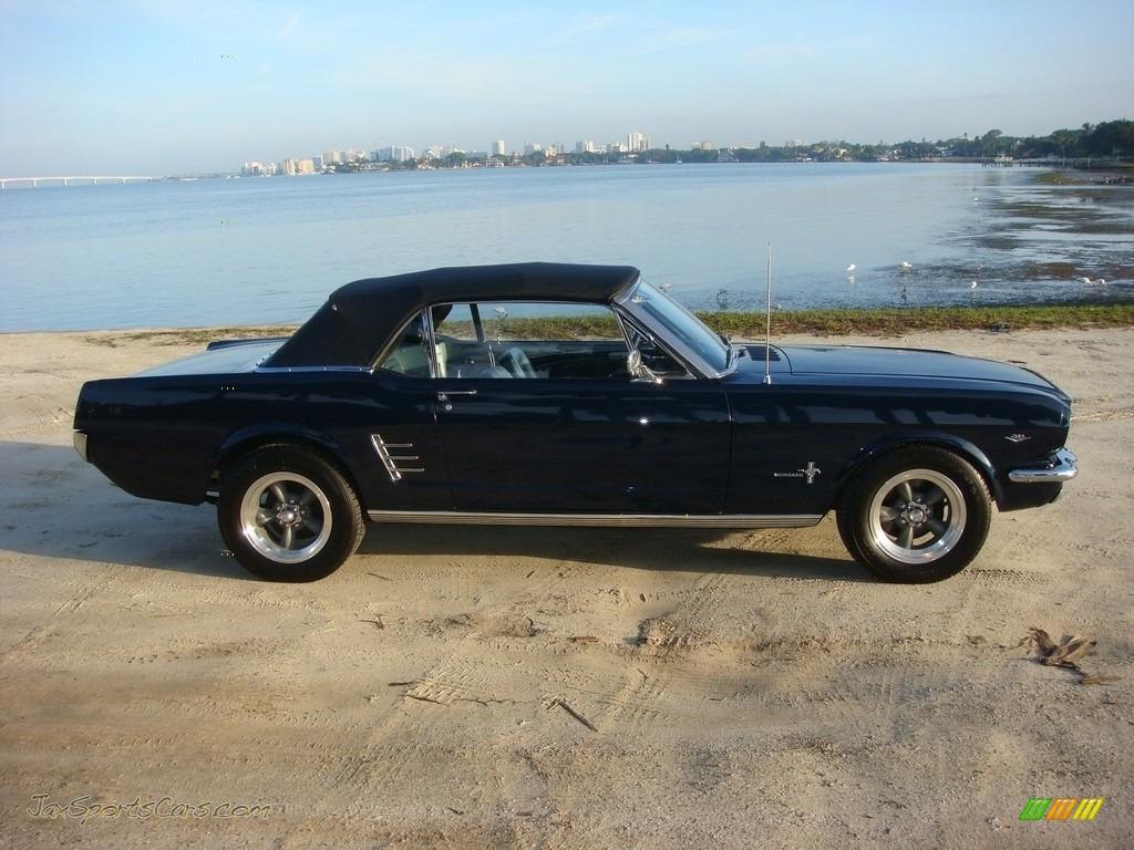 1966 Mustang Convertible - Nightmist Blue / Light Blue photo #33