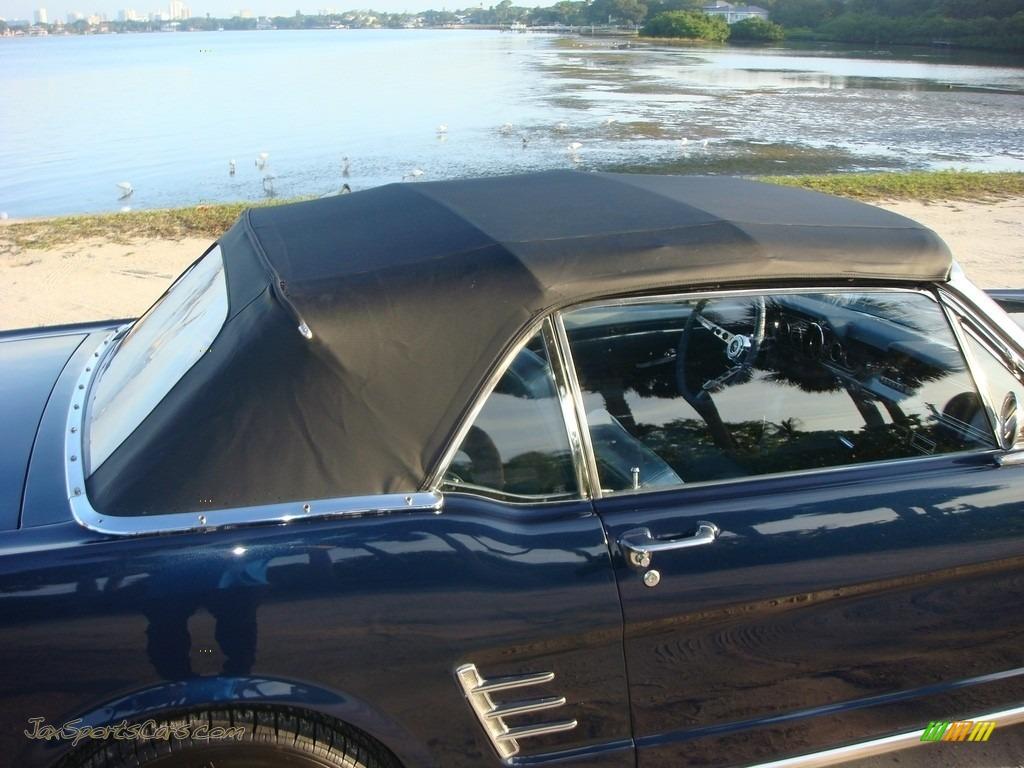 1966 Mustang Convertible - Nightmist Blue / Light Blue photo #34