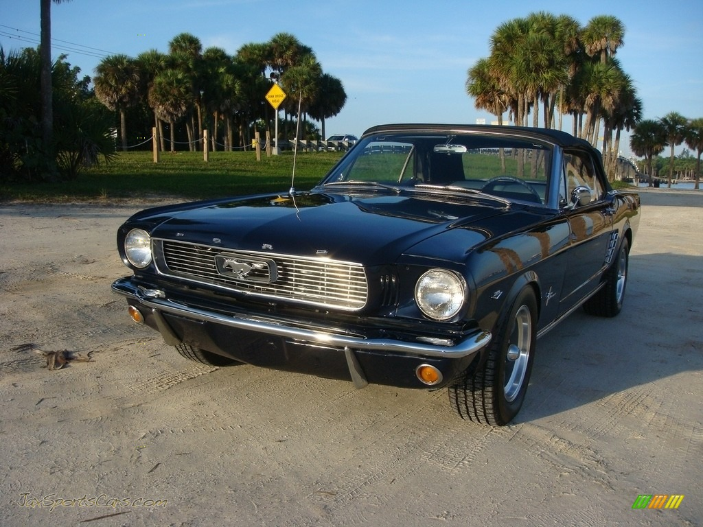 1966 Mustang Convertible - Nightmist Blue / Light Blue photo #46