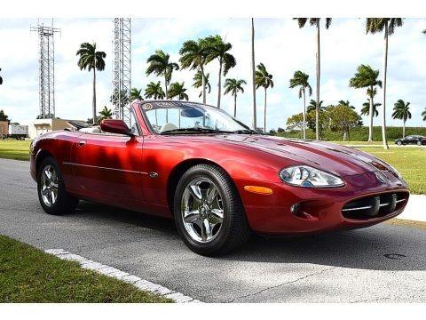 Carnival Red Pearl Metallic 1997 Jaguar XK XK8 Convertible