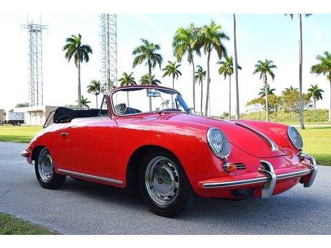 Ruby 1964 Porsche 356 SC Convertible