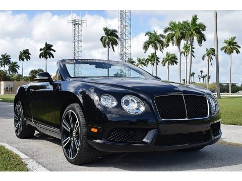 Diamond Black Metallic 2013 Bentley Continental GTC V8