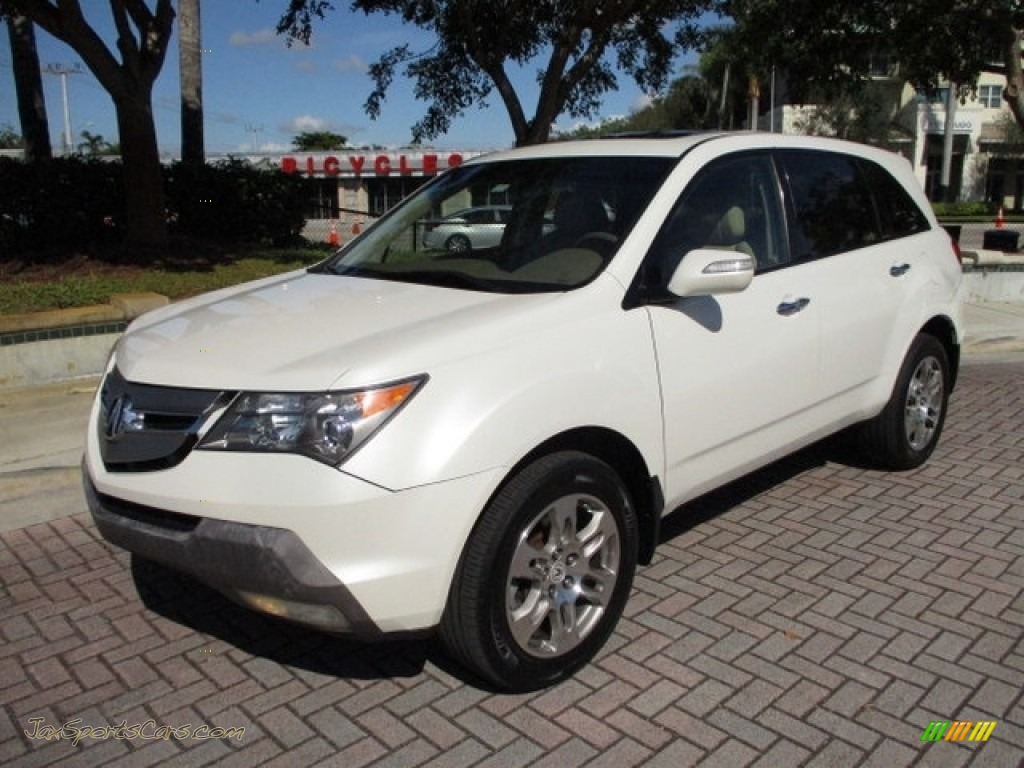2009 MDX  - Aspen White Pearl / Parchment photo #1