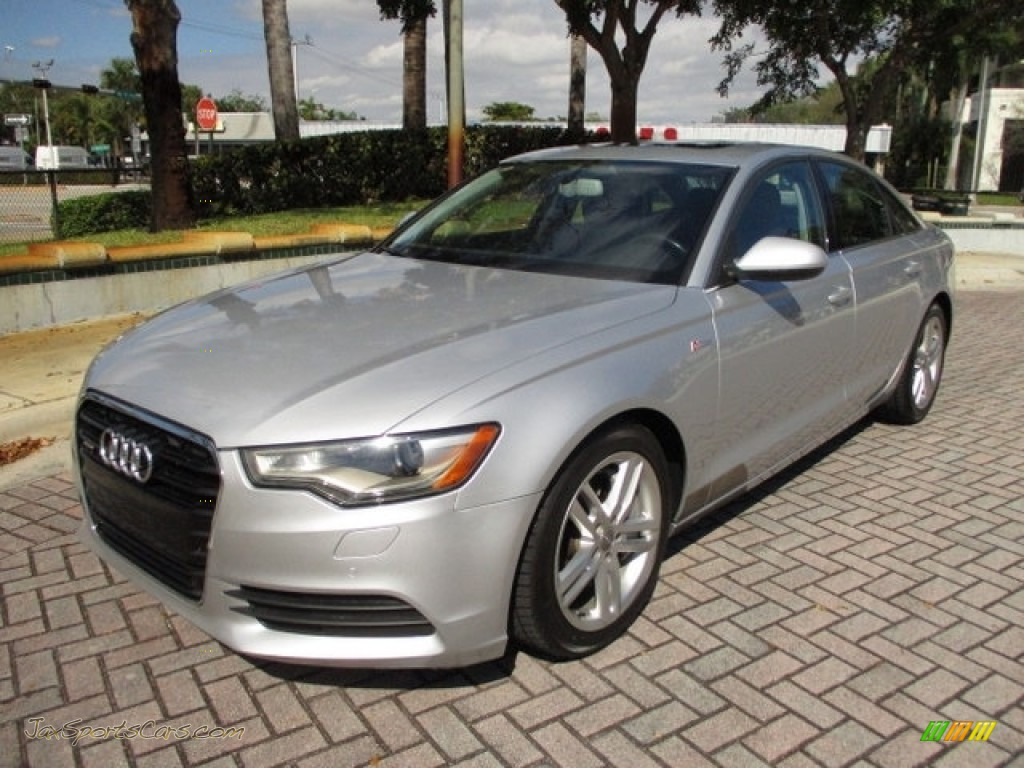 2012 A6 3.0T quattro Sedan - Ice Silver Metallic / Black photo #1