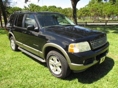 Black 2004 Ford Explorer Eddie Bauer 4x4