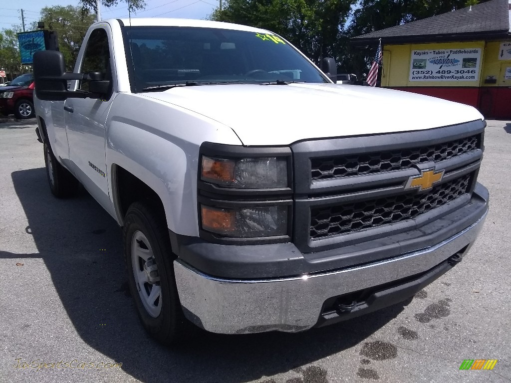 2014 Silverado 1500 WT Regular Cab 4x4 - Summit White / Jet Black/Dark Ash photo #1