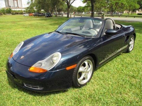 Ocean Blue Metallic 2000 Porsche Boxster