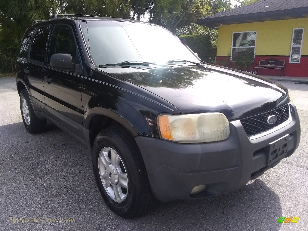 2003 Escape XLT V6 - Black Clearcoat / Medium Dark Flint photo #1