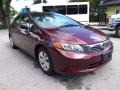 Honda Civic LX Sedan Crimson Pearl photo #1