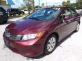 Honda Civic LX Sedan Crimson Pearl photo #7