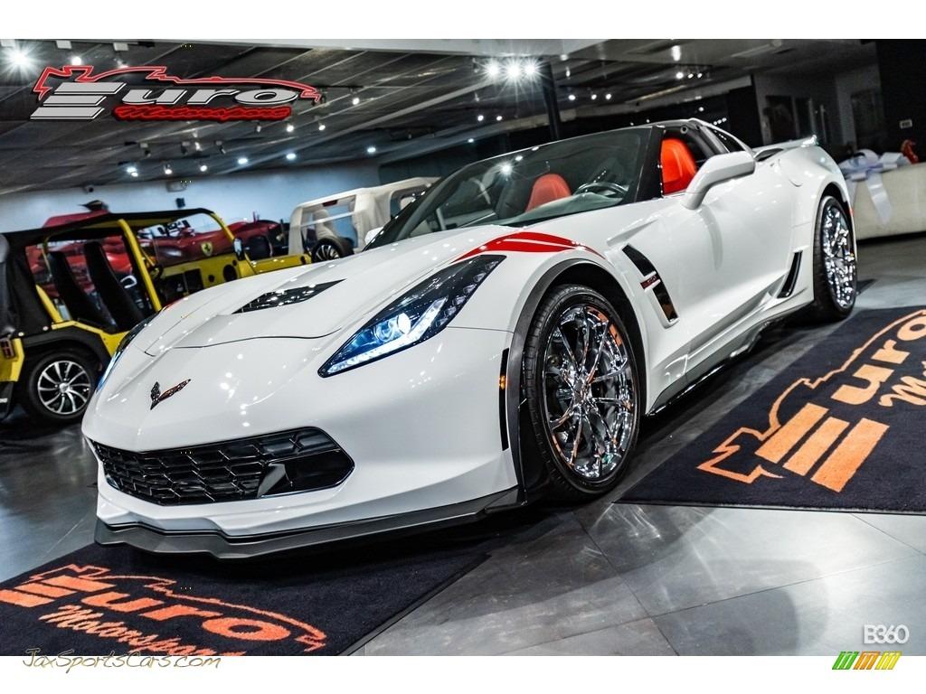 2017 Corvette Grand Sport Coupe - Arctic White / Adrenaline Red photo #1