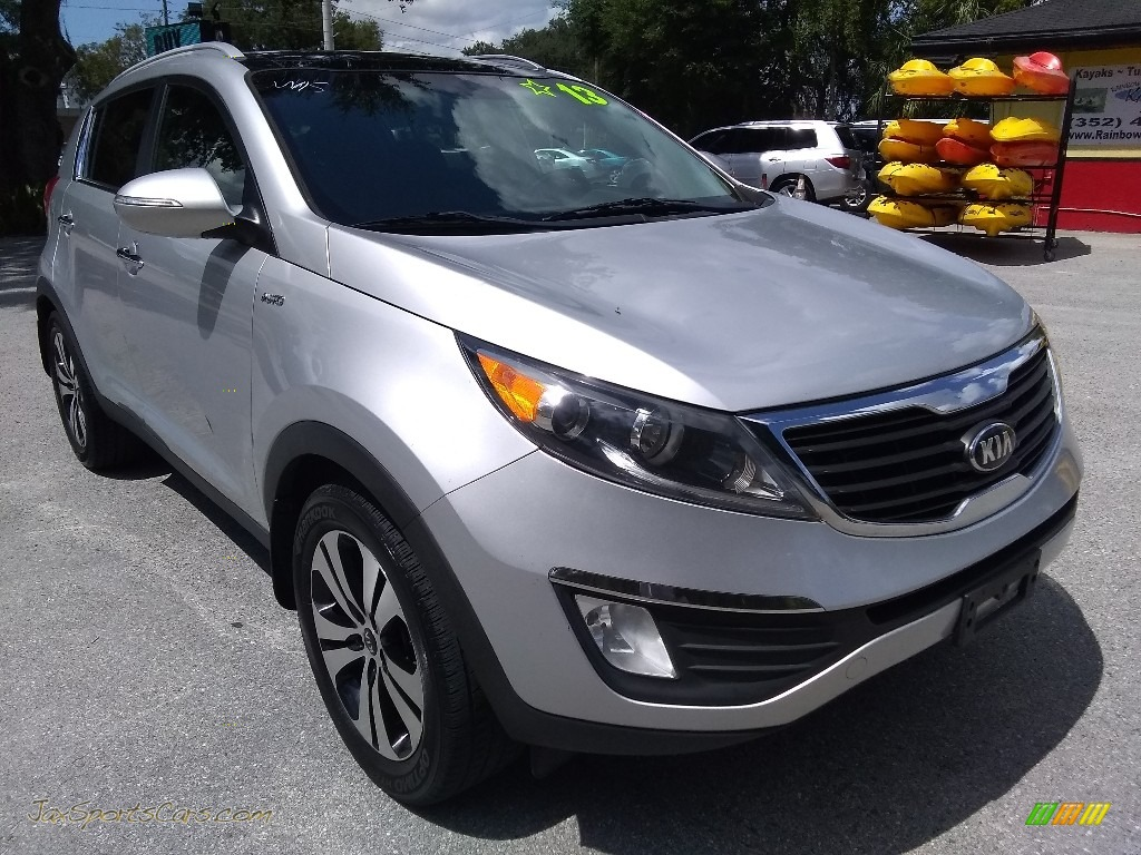 2013 Sportage EX AWD - Bright Silver / Black photo #1
