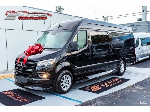 Black Blue 2020 Mercedes-Benz Sprinter 3500 Passenger Van Conversion