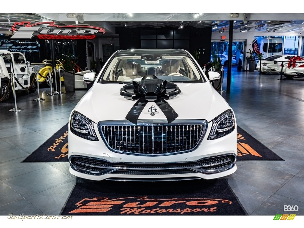 2020 S Maybach S650 - designo Cashmere White Magno (Matte) / Silk Beige/Espresso Brown photo #1