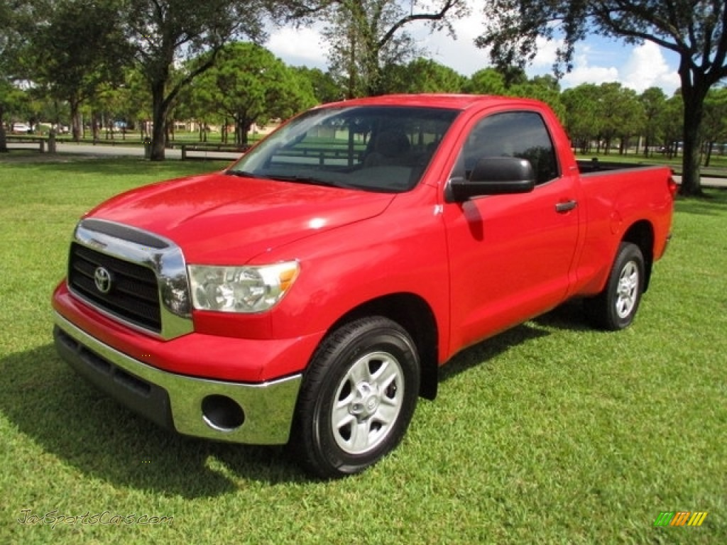 2007 Tundra SR5 Regular Cab - Radiant Red / Beige photo #1