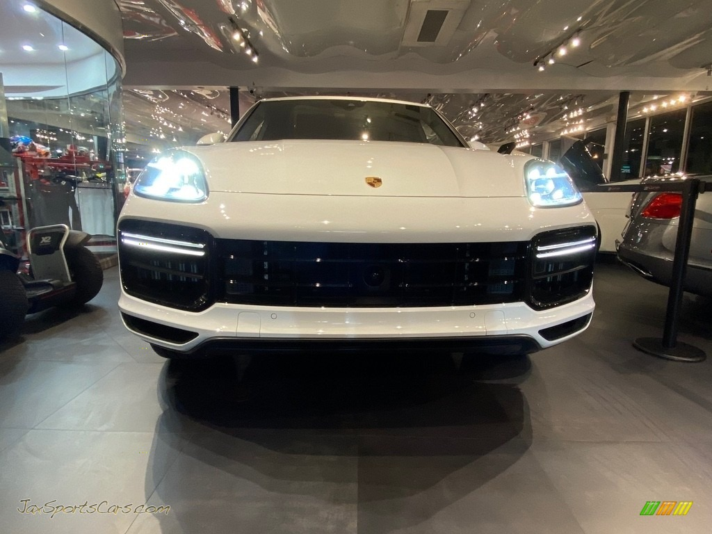 2019 Cayenne Turbo - Carrara White Metallic / Black photo #1
