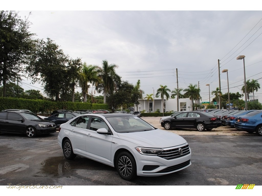 2019 Jetta SEL - White Silver Metallic / Titan Black photo #1