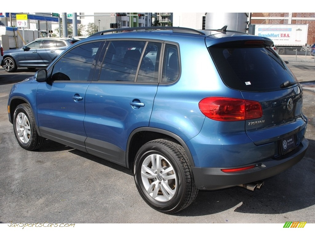2017 Tiguan S - Pacific Blue Metallic / Charcoal photo #6