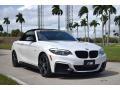 BMW 2 Series M240i Convertible Mineral White Metallic photo #14