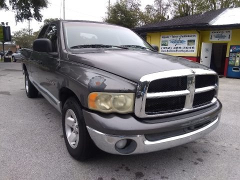 Graphite Metallic 2002 Dodge Ram 1500 SLT Quad Cab