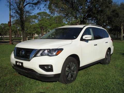 Pearl White Tricoat 2020 Nissan Pathfinder SL 4x4
