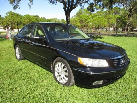 Ebony Black 2008 Hyundai Azera Limited
