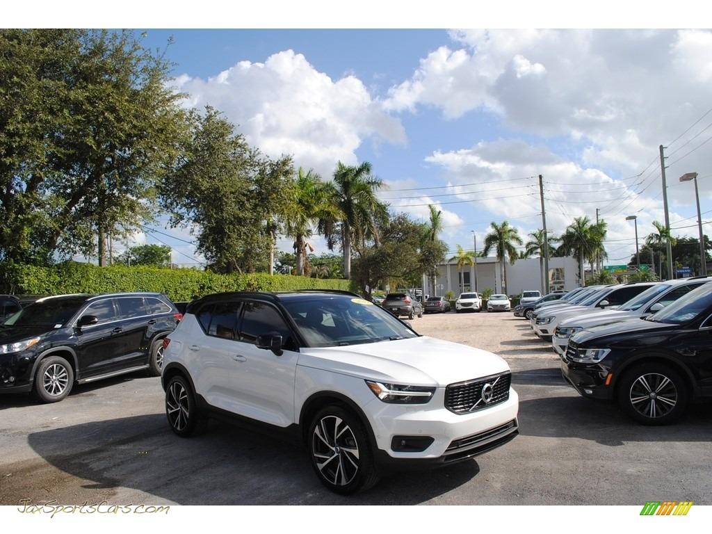 2019 XC40 T5 R-Design AWD - Crystal White Metallic / Charcoal photo #1