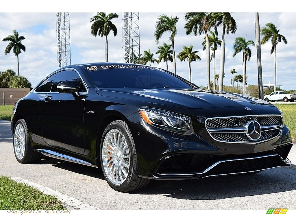 2015 S 65 AMG Coupe - Obsidian Black Metallic / Black photo #1