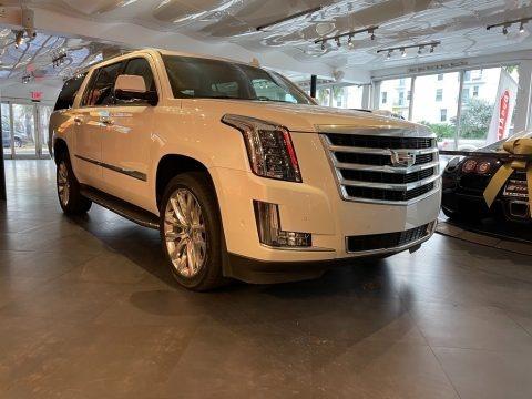 Crystal White Tricoat 2019 Cadillac Escalade ESV Luxury 4WD