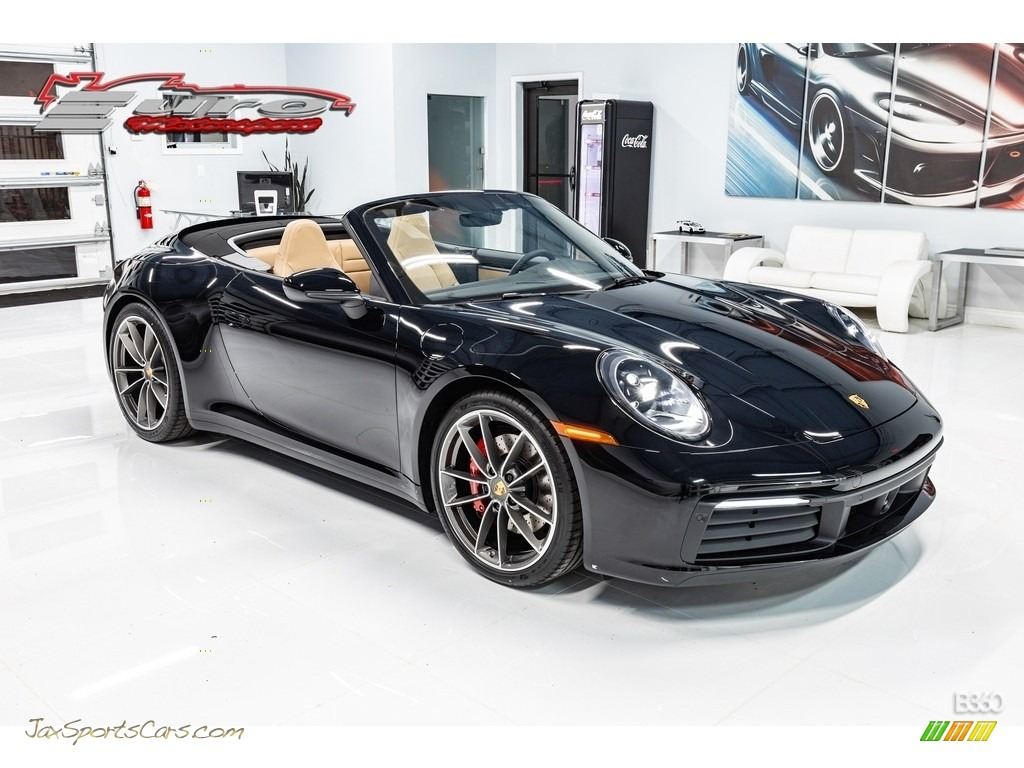 2020 911 Carrera S - Black / Black/Mojave Beige photo #1